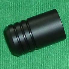 Quick Coupler Plug - Full Cover Cap Black