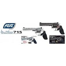 "ASG Dan Wesson 715 6"" Silver Revolver 4.5mm - 177 Metal BB Shooting Version"