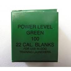 22 Dog Dummy Launcher Blanks - Green Medium Power