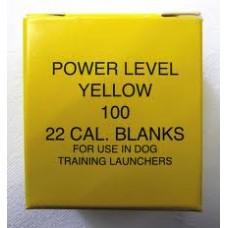 22 Dog Dummy Launcher Blanks - Yellow Medium Power
