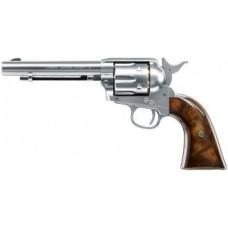 Umarex Colt Peacemaker Nickle Chrome Brown Grips Rifled Barrel .177 Pellet