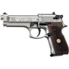 Beretta 92FS Nickel with Wood Grips