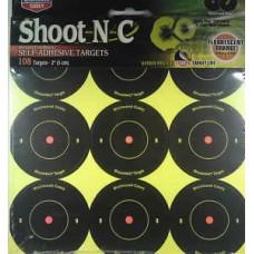 "Birchwood Casey Shoot N C Targets 2"" round  Qty 108"