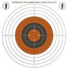 Bisley Single Card Targets 14cm x 14cm (50)