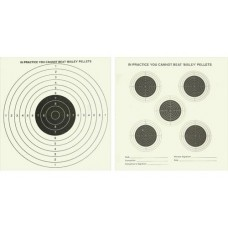 Bisley Double Sided Card Targets 14cm x 14cm (50) 5 Targets