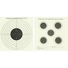 Bisley Double Sided AIr Gun Card Targets 50 x 17cm x 17cm