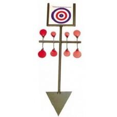 Bisley Metal Target Spinners Red Set