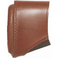 Bisley Brown Leather Slip On Pad