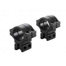BKL-301 30mm 2 Piece Black Double Strap Medium Scope Rings