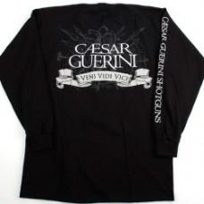 Caesar Guerini Black Long Sleeve Polo Shirt