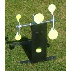 Cordless Resetting airgun Target with spinners