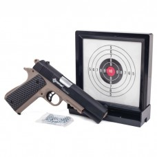 Crosman Classic 1911 Spring Pistol Kit Single Shot with Sticky Target and 250 BBs