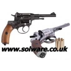Gletcher Nagant Nickle Revolver