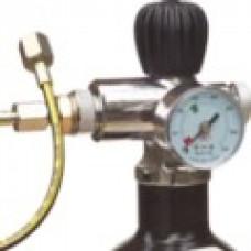 12 Ltr Air Bottle Charging Cylinder with Gun Valve, Gauge
