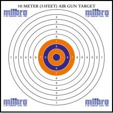 Milbro 14cm Card Targets Pack Size 100