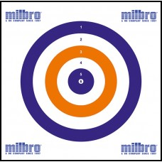 Milbro 14cm Red White & Blue Card Targets Pack Size 100