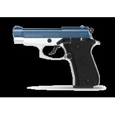 Retay 84 FS Nickel/Blue 9MM P.A.K Blank Firing Pistol