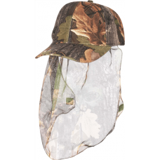 Camouflage Cap with Face Veil