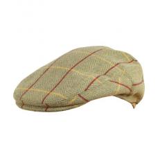 Tweed Wool Blend Flat Cap Hat