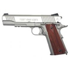 Colt 1911 Rail Gun Stainless Full Metal 6mm BB Pistol