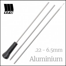 VFG Aluminum 22 - 6.5mm 3 Piece Cleaning Rod with Adaptor